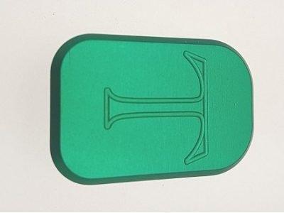 U011 Unica Alu Base Pad Green For Small Frame Code 630 U Pad Al V